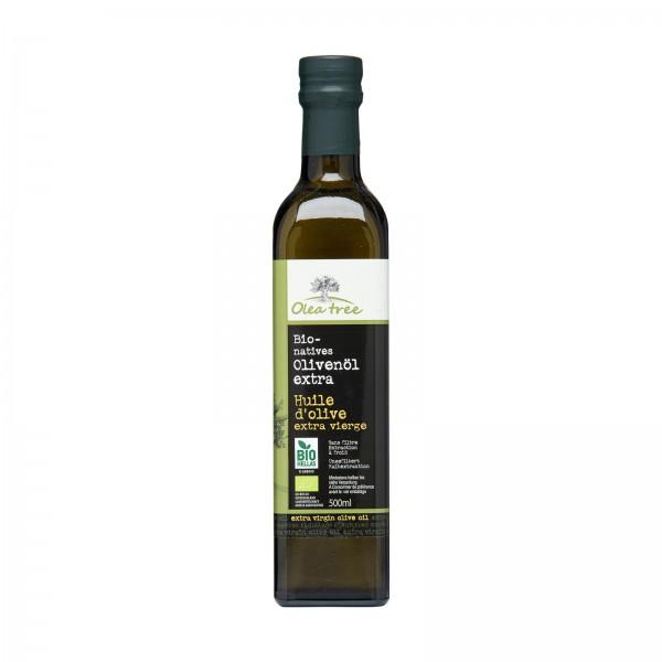 Bio-Olivenöl von Olea Tree, extra nativ in Flasche
