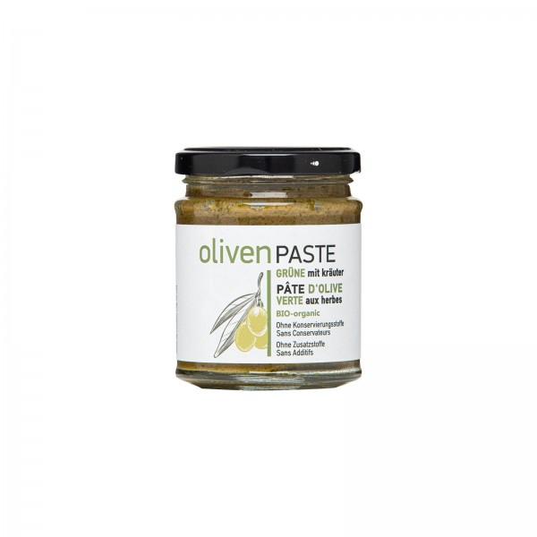 Bio-Olivenpaste aus grünen Oliven, 2 Varianten